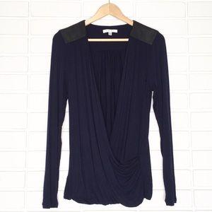 CAbi | Navy Blue Luxury Wrap Luxury Blouse - #953